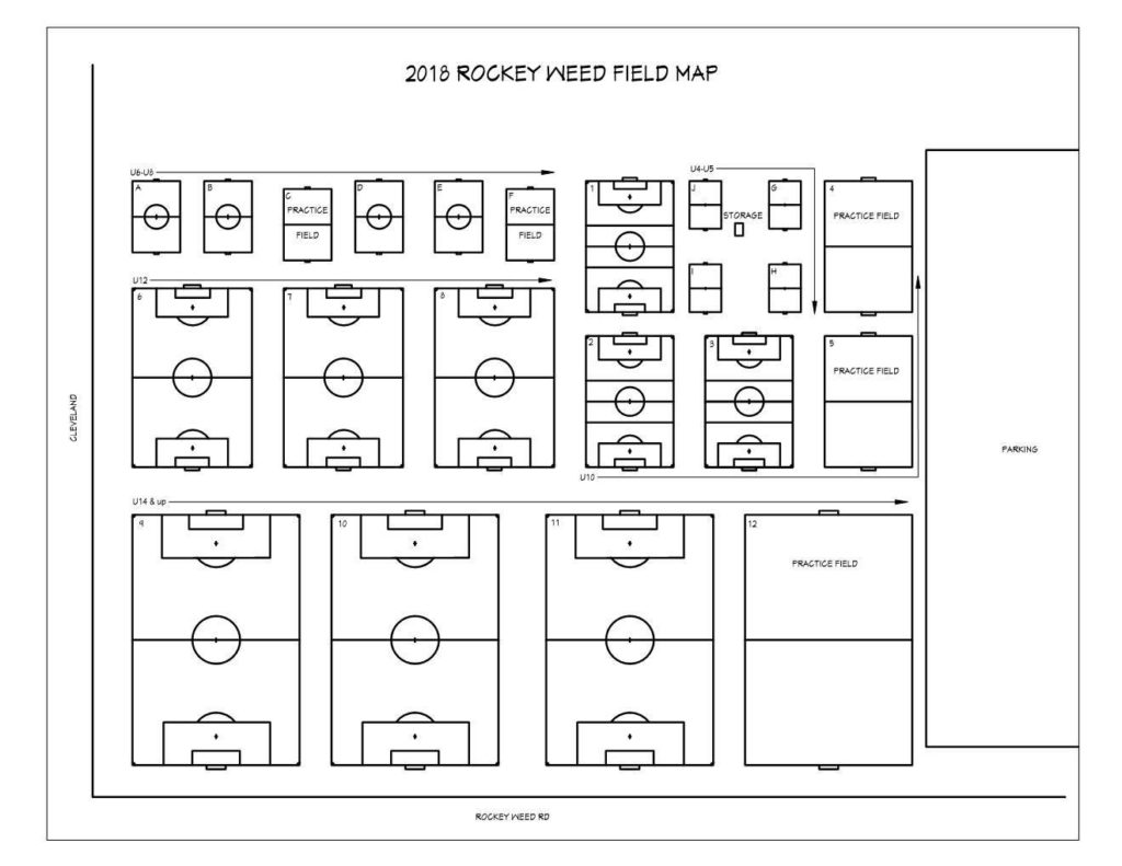 Field Map - Lakeshore Youth Soccer Complex